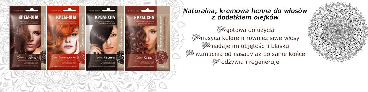 Kremowa, naturalna henna do włosów